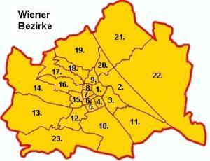 23 Bezirke Wiens